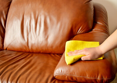 brown sofa cleaning